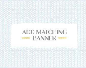 Add a matching Banner
