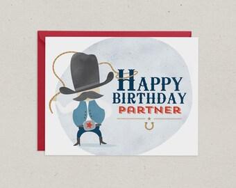 Birthday Card   Cowboy   Greeting Card