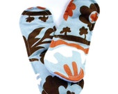 Tired Feet Hot Cold Therapy Heat Packs - rice and flax - heating pads for feet - yellow navy tropical flower