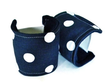 Wearable Wrist Supports for Keyboard, Mouse, Heat Wrap Cold Wrap for Wrists, Ergonomic Heated Cuff, Carpal Tunnel Tendonitis,  navy dot