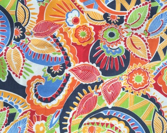 Hippie Chick Multi Color Paisley Cotton Fabric by the yard