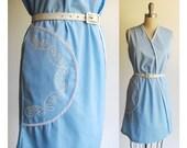 Circle Pocket Shift / Retro Vintage 1960s Dress / Mod Style Cotton Shift / Vintage 60s Dress / Sun Dress / Pool Party Resort / Medium sizes