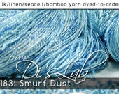 From the Lab - DtO 183: Smurf Dust on Silk/Linen/Seacell/Bamboo Yarn Custom Dyed-to-Order