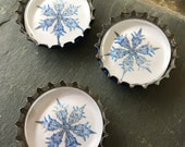 Snowflakes - glass magnet gift set
