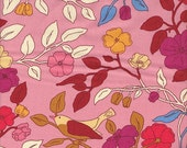 Moda Fabrics Ladies Stitching Club Birds and Branches in Pink - Half Yard