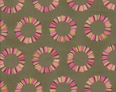 Free Spirit Fabrics Tula Pink Acacia Pineapple Slices in Olive - Half Yard