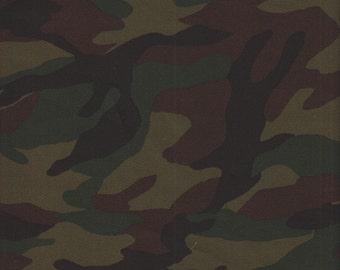 Robert Kaufman Sevenberry Camouflage COTTON TWILL in Olive - Half Yard