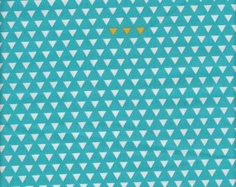 Riley Blake Four Corners Small Triangles Teal - Half Yard