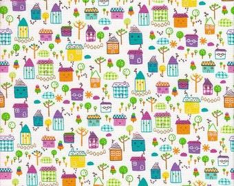 Timeless Treasures Happy Little Houses - Half Yard