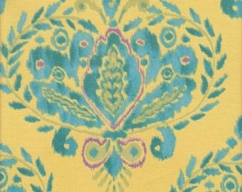 Free Spirit Fabrics Dena Designs Tangier Ikat Fleur in Aqua - Half Yard
