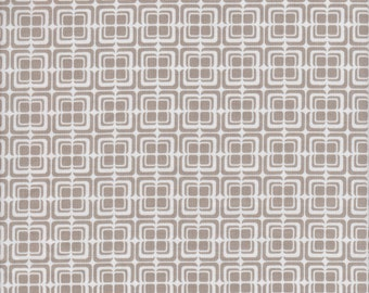 Riley Blake Ashbury Heights Deco Squares in Taupe - Half Yard
