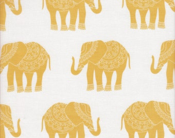 Riley Blake Madhuri Elephant in Orange - Half Yard