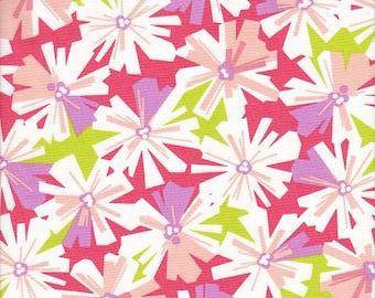 Free Spirit Fabrics Erin McMorris La Dee Da Oopsy Daisy in Coral - Half Yard