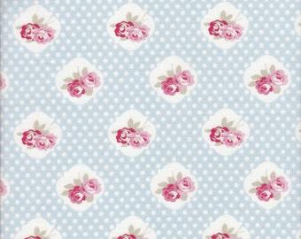 Free Spirit Fabrics Tanya Whelan Petal Sweety Rose in Blue - Half Yard