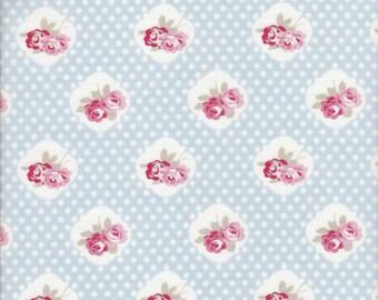 Free Spirit Fabrics Tanya Whelan Petal Sweetie Rose in Blue - Half Yard