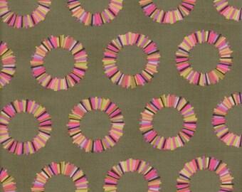 Free Spirit Fabrics Tula Pink Acacia Pineapple Slices in Olive - Half Yard