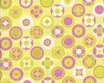 Free Spirit Fabrics Erin McMorris Wildwood Buttons in Gold - Half Yard