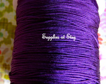 Eggplant Silky Purple Nylon cord bracelet/knotted jewelry/beading cord .8 mm-Purple like silky Great Quality DIY Macrame,Shambhala Bracelet