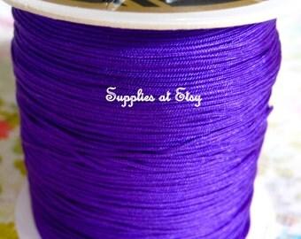 Purple Violet Silky Nylon cord bracelet/knotting/beading cord .8 mm 10 feet-Purple like silky Great Quality DIY Macrame,Shambhala Bracelet