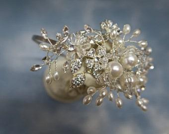 Bridal Hair Accessories, Wedding Hair Accessories, Wedding side Tiara, Bridal Tiara, Wedding Hair Piece, Wedding Jewelry