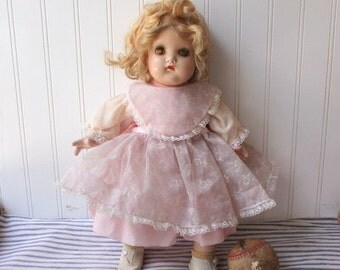 """Vintage Madame Alexander doll character baby cloth and composition 17"""" Little Genius ?"""
