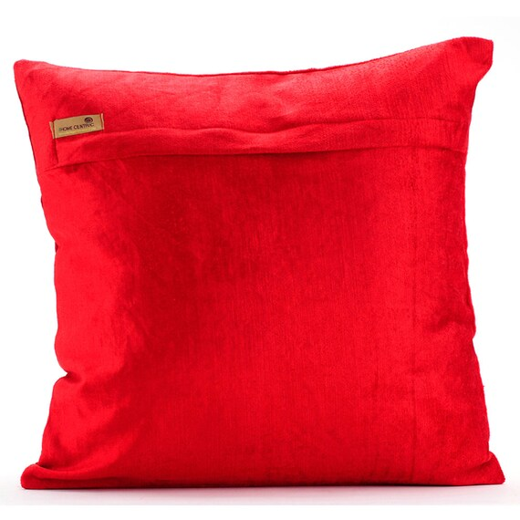 16x16 Decorative Pillow Covers : thehomecentric - Decorative Throw Pillow Covers Couch Toss Pillow 16x16 Inches Red Velvet ...
