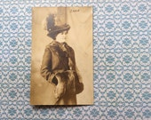 1910s photograph A Fine Day for aPhoto woman in furs sepia photograph