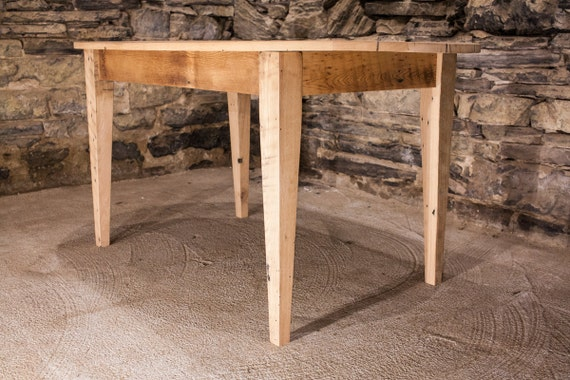 Reclaimed Antique Pine Oval Dining Table