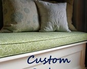 Custom Order Leather Bench Cushion - Reserved for Sue