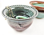 Large Earring holder, Large Earring bowl, Jewelry Bowl, organizer - Made to order