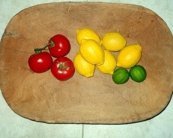 Wooden Dough Bowl, Farmhouse Primitive Decor, Hand Carved Bowl, Rustic Cabin Decor, Wood Kitchen Bowl, Country Chic Decor,