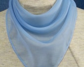 Solid color sheer polyester bandana  stoma cover scarf - with or without velcro closure