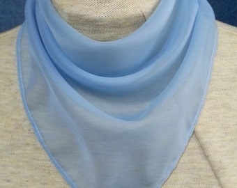 Choice of solid color sheer polyester bandanas -  stoma cover scarf - with or without closure