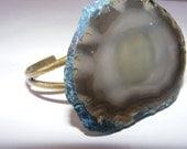 Large Blue Agate Bracelet