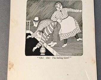 DR DOLITTLE illustration feeling faint circus . Vintage Childrens Book Illustration 1920 . Hugh Lofting illustration Doctor Dolittle