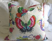 MANDARIN BRIGHTS pillow ready to ship includes down/feather insert ooak