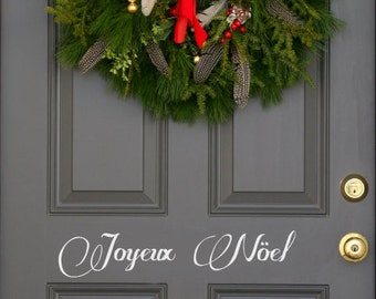 French Joyeux Noel Christmas holiday festive front  door decal