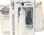 1960s Vintage Sewing Pattern - Spadea NS-382-2 - Irene Gilbert of Dublin - Draping Empire Gown or Evening Dress / Size 10