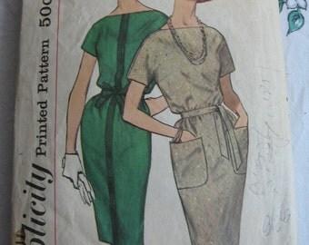 Vintage Simplicity Pattern 4031 Kimono Sleeve Dress Free Shipping