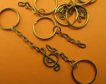 Key chain blanks key chains ring keychains 10 Pcs Key ring Keychain Jump ring Blanks - findings - DIY Jewellery Jewelry making