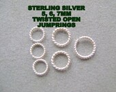 JUMPRINGS, STERLING, ROPE, 5,6,7mm, Open, Round, Fancy,Finding, Necklace,Twisted, I