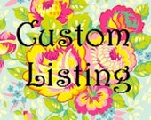 Custom Listing for Stephanie
