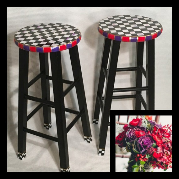 Whimsical Painted Furniture Painted Bar Stool 24 Or