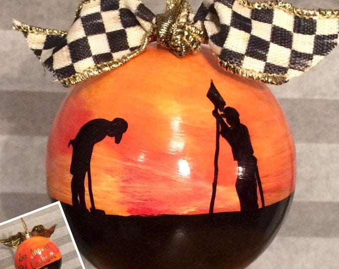 Golf painted ornament // golf themed ornament //customPainted 3 inch round ornament