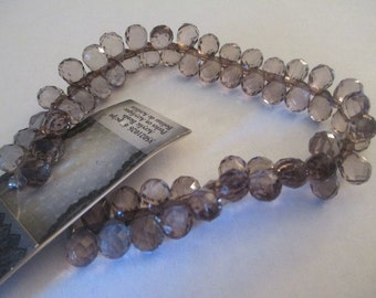 60 Light Brown Teardrop Beads Jewelry Making Craft Supplies