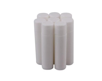50 White Lip Balm Tubes & Caps Craft Supplies
