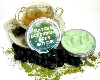 Matcha Blueberry - Whipped Shea Body Butter