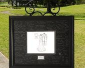 Wedding Guest Book Idea - 11 x 14 sketch - Wedding Gift, Wedding Gift From Groom To Bride