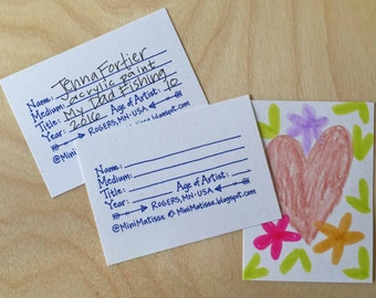 Artist Trading Card Stamp : for Art Teachers, Handwritten, Self-inking or Red Rubber