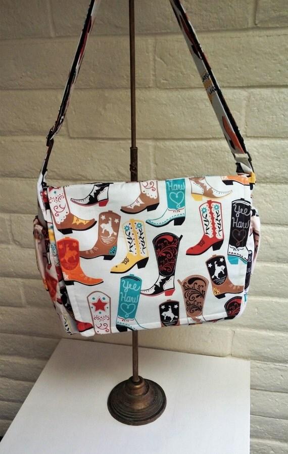 Cowboy Diaper Bags : Baby boy diaper bag nappy cowboy boots country
